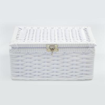 Porta joias organizador fibra bijouteria 25x15x12 - branco