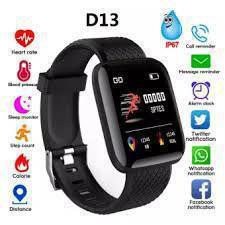 Relógio inteligente pulseira d13 monitor cardíaco do pulso