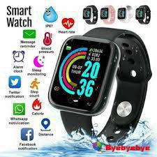 Relógio smartwatch d20 pulseira inteligente monitor