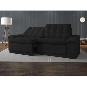 Sofá 4 lugares net confort assento retrátil e reclinável