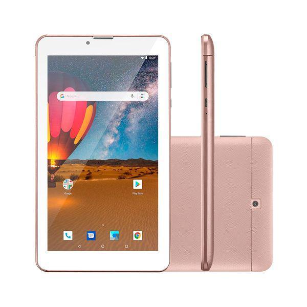 Tablet m7 nb305 rosa 3g plus, dual chip, quad core, 1 gb de