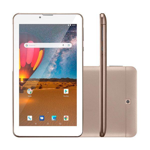 Tablet m7 nb306 dourado 3g plus, dual chip, quad core, 1 gb