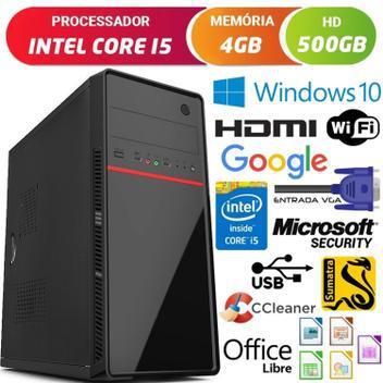 Computador pc cpu intel core i5 3.2ghz com hdmi 4gb hd 500gb