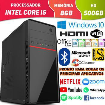 Computador pc cpu intel core i5 com bluetooth hdmi 8gb hd