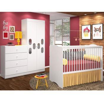 Jogo de quarto meu bebê com berço alegria - moveis canaã
