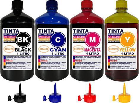 Kit 4 litros tinta compatível epson l120 l380 l220 l210