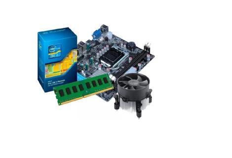 Kit intel core i7 2600 3.4 ghz + placa h61 + 8 gb ddr3 -
