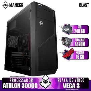 Pc gamer mancer, amd athlon 3000g, 16gb ddr4, ssd 240gb,