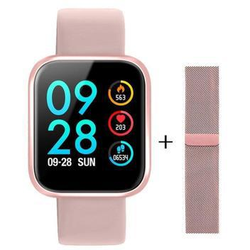 Relógio smartwatch p80 touch screen monitor cardíaco