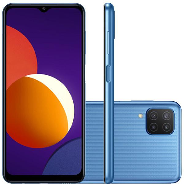 "Smartphone samsung galaxy m12 64gb tela 6.5"" dual chip 4gb"