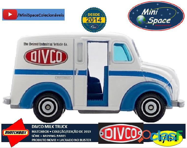Matchbox Divco Milk Truck cor Branco 1/64