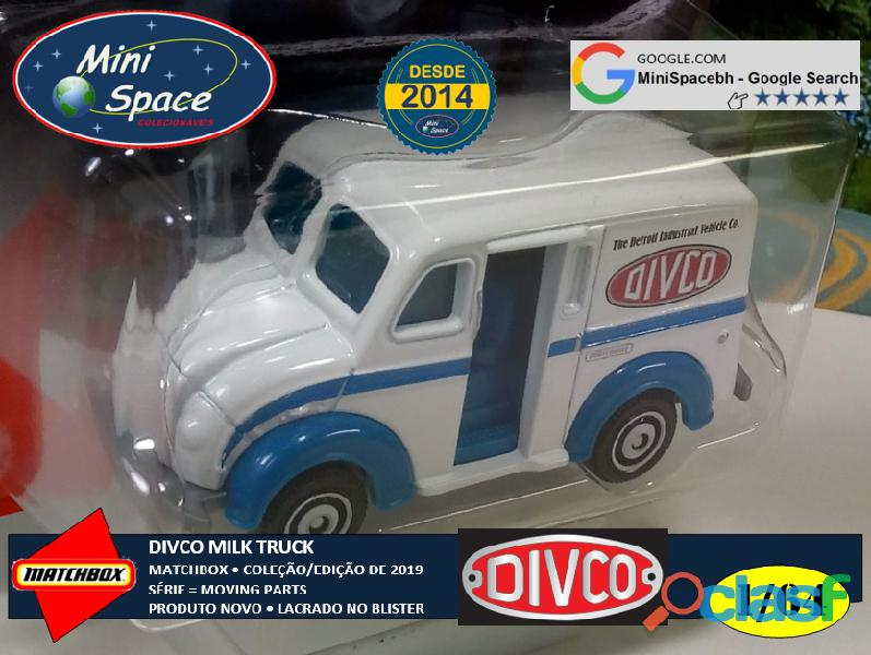 Matchbox Divco Milk Truck cor Branco 1/64 4