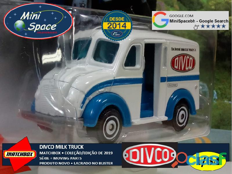 Matchbox Divco Milk Truck cor Branco 1/64 8