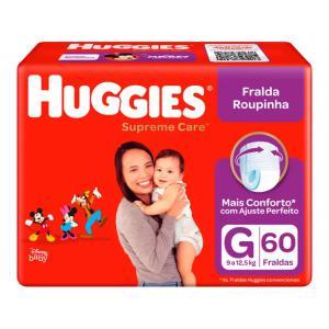 App] 3 pacotes fralda huggies supreme care roupinha g 9 a