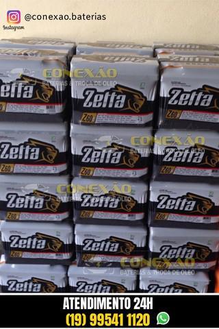 Bateria zetta 60ah (2ª linha moura) 12 meses de garantia  