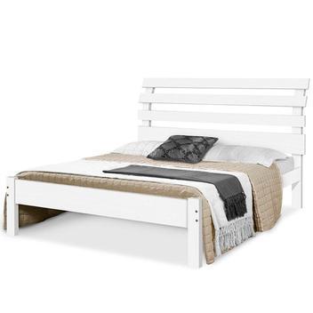 Cama de casal madeira maciça rebeca atraente branca - cama