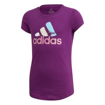 Camiseta adidas estampada infantil - rosa