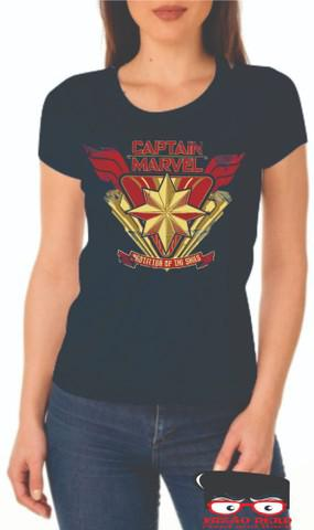 Camiseta feminina baby look capitã marvel vingadores fuzão