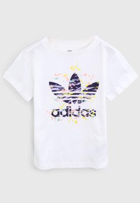 Camiseta adidas originals infantil full print branca