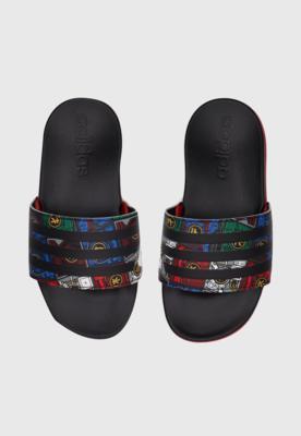 Chinelo slide adidas infantil adilette comfort k preto