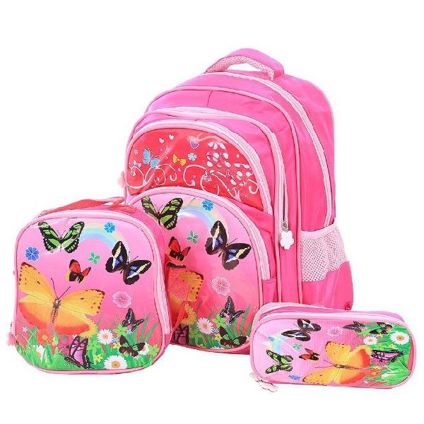 Kit escolar mochila infantil + lancheira térmica + estojo