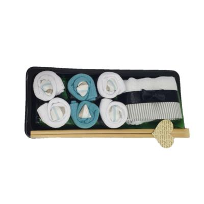 Kit meias presente sushi baby chocolate casual azul.