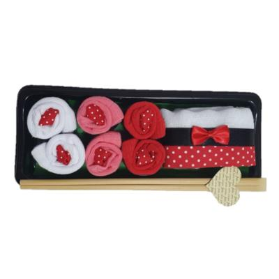 Kit meias presente sushi baby chocolate casual rosa.