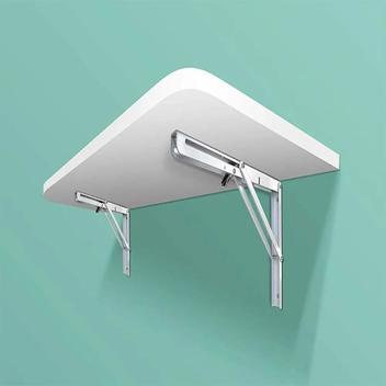 Mesa dobravel branca em mdp - bemfixa - mesa dobrável de