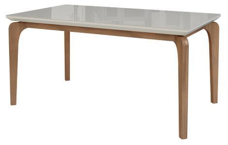 Mesa de jantar cirrus 6 lugares 140cm s/ cadeiras - tampo c/