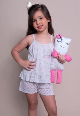 Pijama infantil bella fiore modas curto ursinho infantil