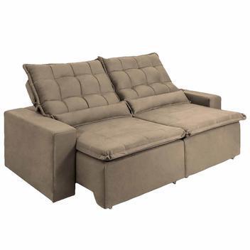Sofá 3 lugares maricá assento retrátil e encosto