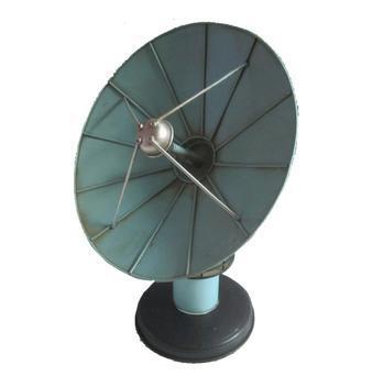 Antena parabólica 26,5 cm miniatura metal vintage retro