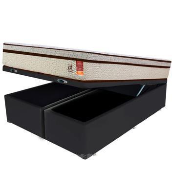 Cama box baú king + colchão molas ensacadas bf colchões