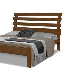 Cama casal rebeca - 100% madeira maciça - castanho - camas