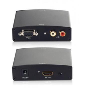 Conversor adaptador vga para hdmi - analógico x digital com