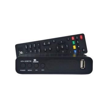 Conversor digital hd uhf hdtv com gravador imagem advisdbt06