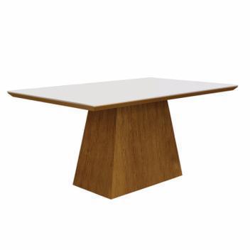Mesa de jantar retangular tampo mdf/vidro 120cm pampulha
