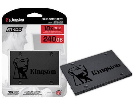 Ssd kingston a400 240gb - 500mb/s para leitura e 350mb/s
