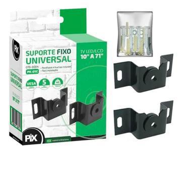 Suporte tv fixo universal ultra slim lcd, plasma, led, oled,