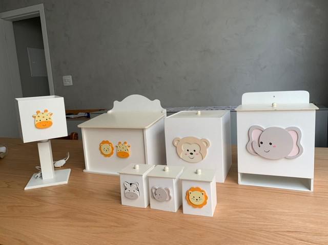 Kit decoração quarto infantil safari