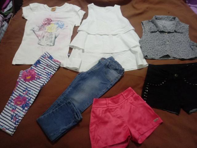 Lote de roupas para meninas tamanhos 6 anos