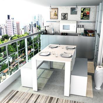 Mesa jantar liv em mdp com 4 lugares - appunto móveis -