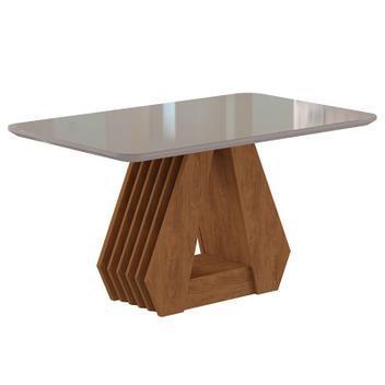 Mesa para sala de jantar com tampo de vidro agata-cimol -