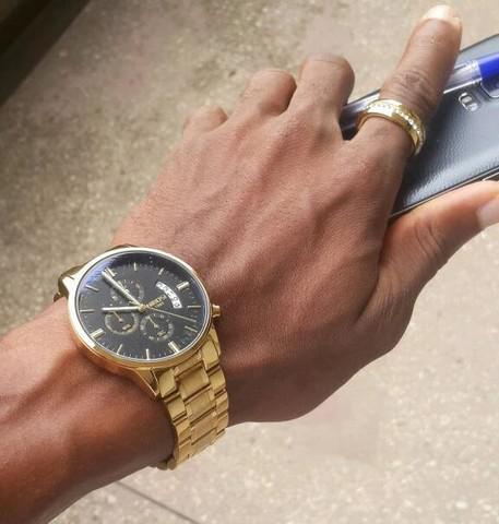 Relógio nibosi original dourado