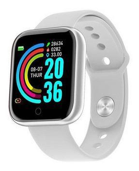 Relógio smartwatch inteligente y68 monitor saúde bluetooth