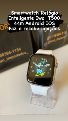 Smartwatch relógio inteligente iwo t500 44m android ios faz