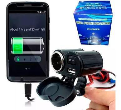 Tomada usb para moto carregador celular gps - charger -