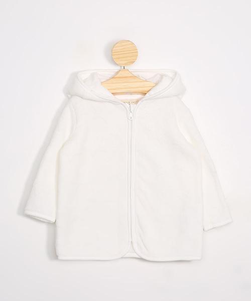Blusão infantil de fleece texturizado de estrelas com capuz