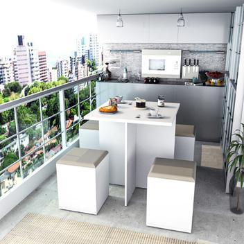 Conjunto appunto móveis para sala de jantar mesa e 4