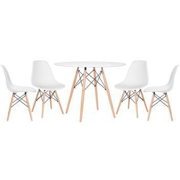 Kit - mesa eames 100 cm + 4 cadeiras eames eiffel dsw -